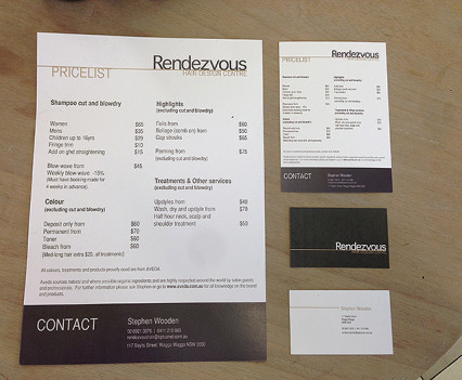 Rendezvous Hair Design Centre - Branding