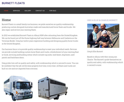 Burnett Floats - Website