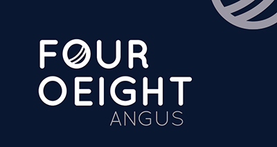 FourOeight Angus Logo - reversed