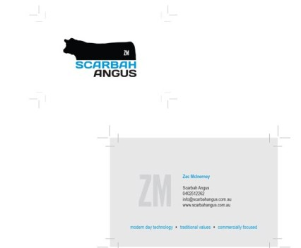 Scarbah Angus Business cards
