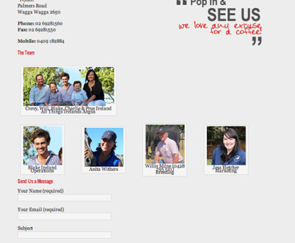 Irelands Angus Website