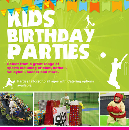 Xceler8 Indoor Sports Centre – Birthday Party Campaign