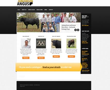 ADAMELUCA Angus website