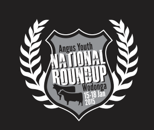 Angus Youth Roundup 2015 Logo - Reversed