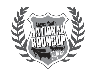 Angus Youth Roundup 2015 Logo - Black/White