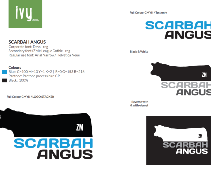 Scarbah Angus corporate logo set