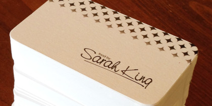 Food by Sarah King – Business Cards